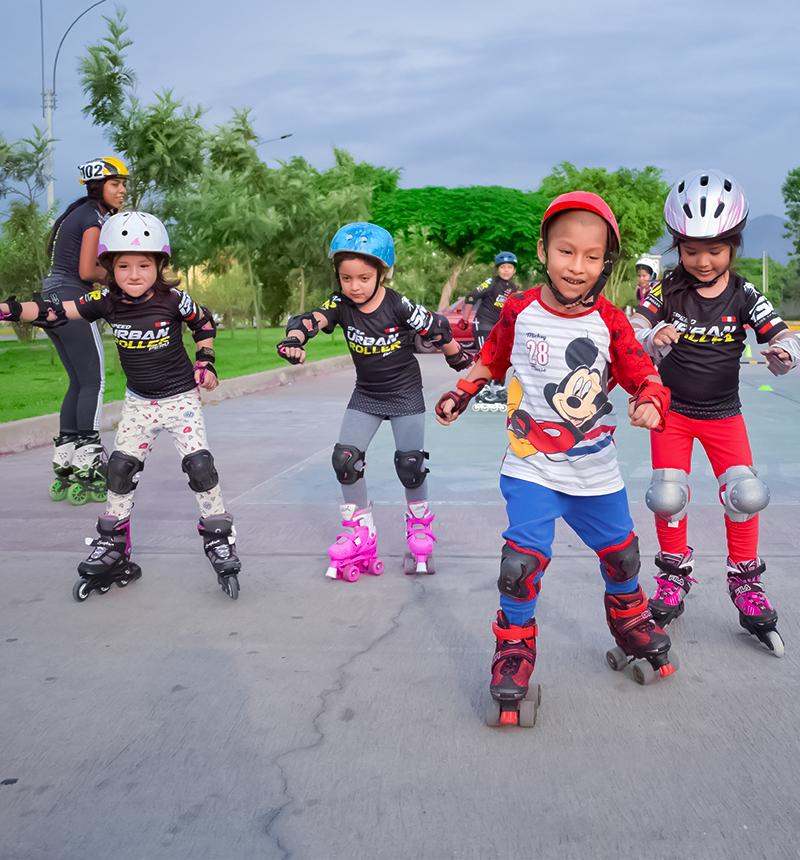 Escuela de patinaje para niños